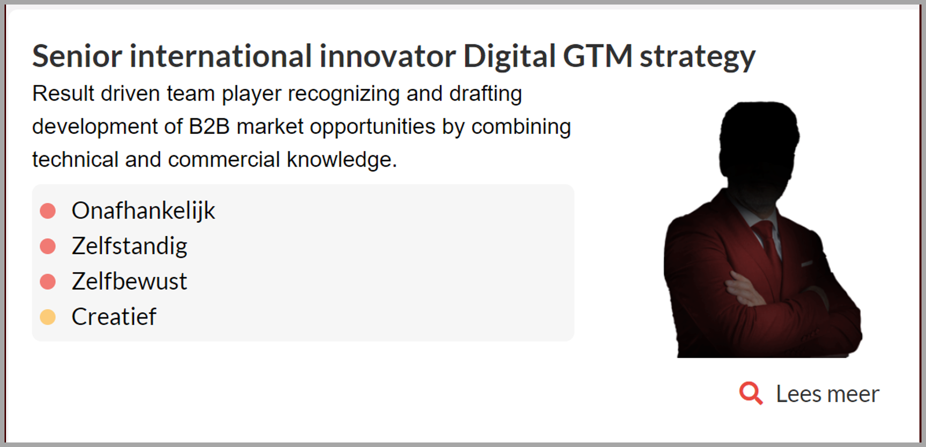 Senior Int Innovator digital GTM strategy